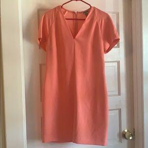 Coral Formal Short Sleeved Dress